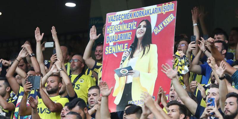 Fenerbahçe taraftarından Dilay Kemer'e destek