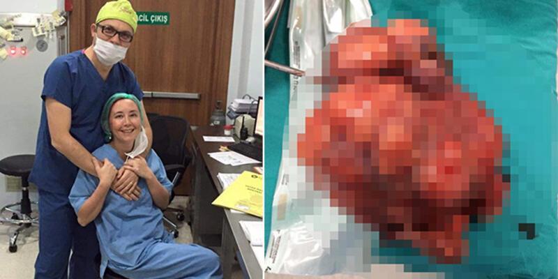 Kasık ağrısı şikayetiyle hastaneye gitti, karnından 2 kiloluk ur çıktı
