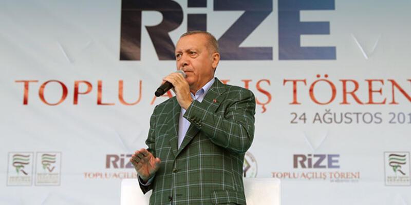 Cumhurbaşkanı Erdoğan'dan Rize'ye havalimanı müjdesi