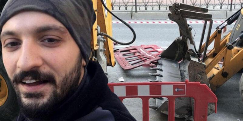 Karaköy'de feci kaza: Kepçenin dişleri sırtına saplandı