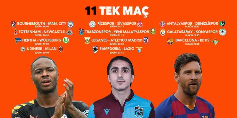 6 saat içinde 11 TEK MAÇ fırsatı! Manchester City, Trabzonspor, Barcelona, iddaa oranları...