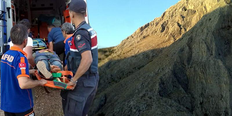 Kayalıklaran düşüp ayağını kıran genç kız kurtarıldı