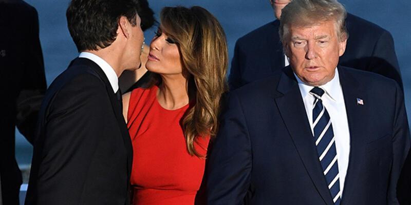 Kanada Başbakanı ve Trump'ın eşinden sıcak selamlaşma! İşte o anlar