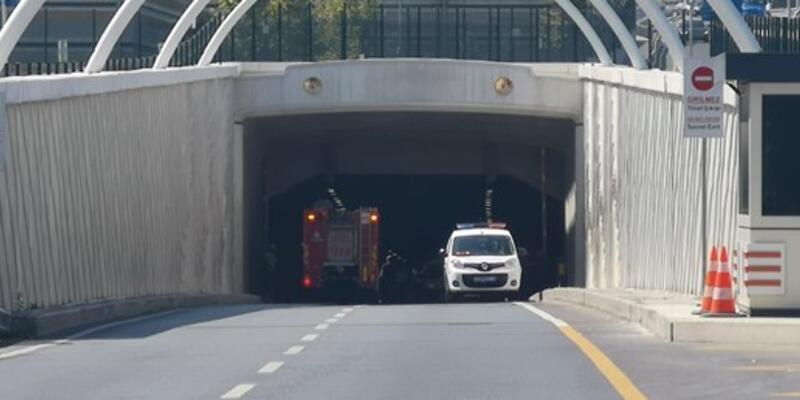 Avrasya Tüneli kaza nedeniyle trafiğe kapatıldı
