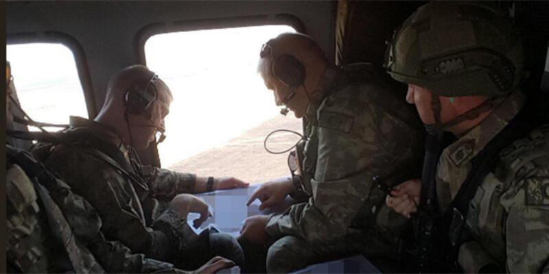 Türk-ABD'li komutanlardan ikinci ortak helikopter uçuşu