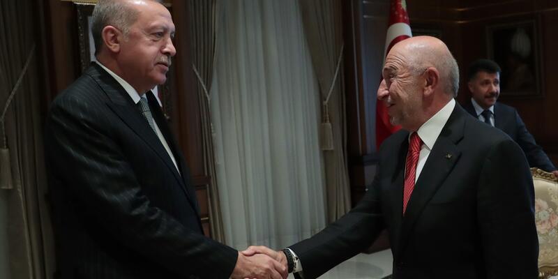 Cumhurbaşkanı Erdoğan, TFF Başkanı Nihat Özdemir'i kabul etti