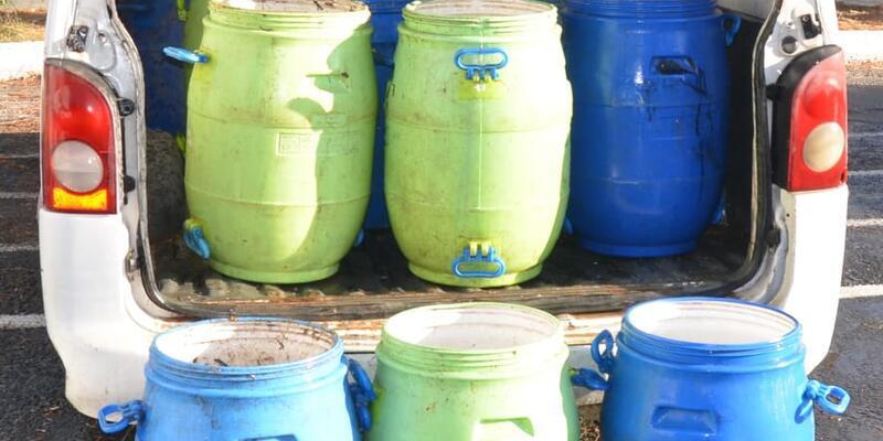 Keşan'da 300 kilo deniz patlıcanı el geçirildi