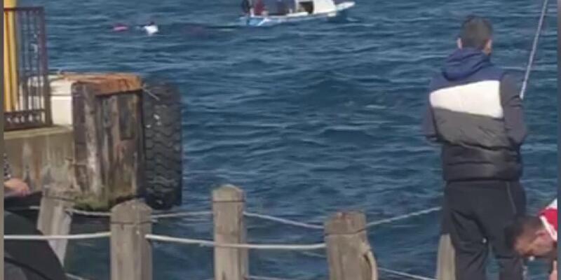 Kaçak midye avlayan tekne battı