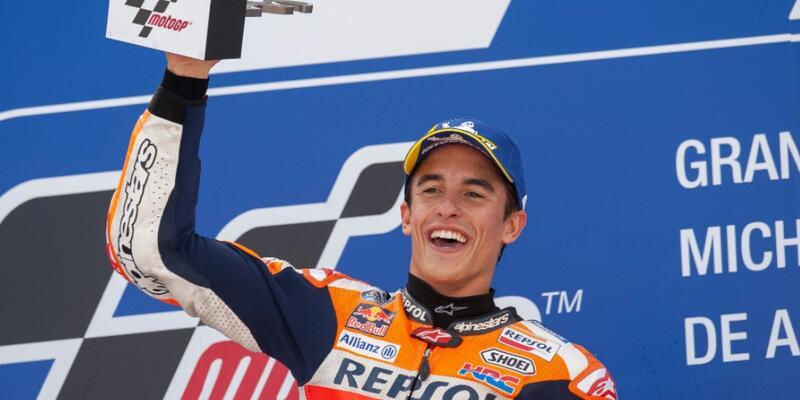 Aragon'da kazanan Marc Marquez
