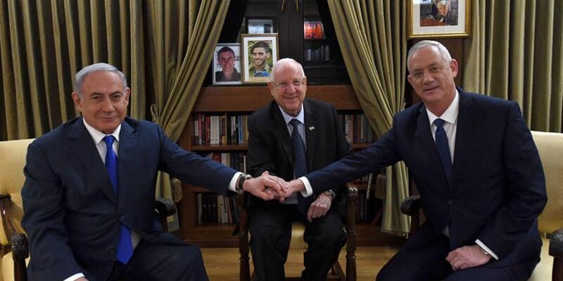 İsrail'de 'siyaset pazarlığı' El ele poz verdiler