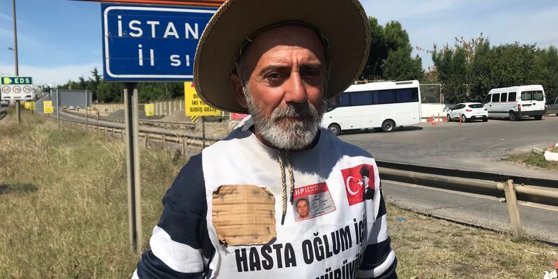 Oğlu için Adana'dan İstanbul'a yürüdü