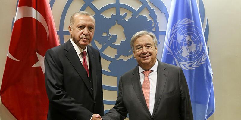 Cumhurbaşkanı Erdoğan'dan BM'de ikili görüşmeler