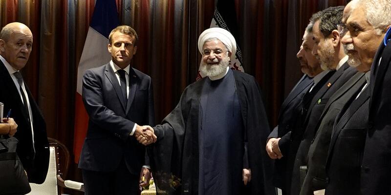 Macron açıkladı: Trump ile Ruhani'nin görüşmesi için şartlar oluştu