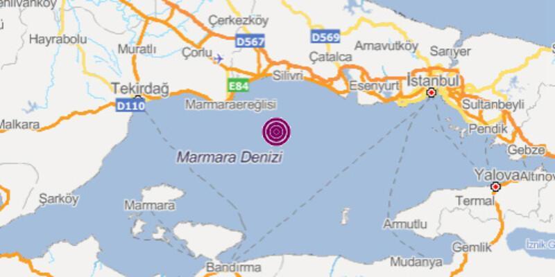 Son dakika: Marmara'da 3.3 büyüklüğünde deprem