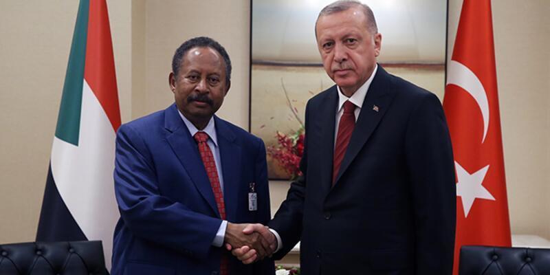Cumhurbaşkanı Erdoğan, Sudan Başbakanı Hamduk'u kabul etti
