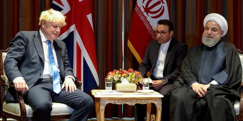 İran Cumhurbaşkanı Ruhani ve İngiltere Başbakanı Johnson görüştü