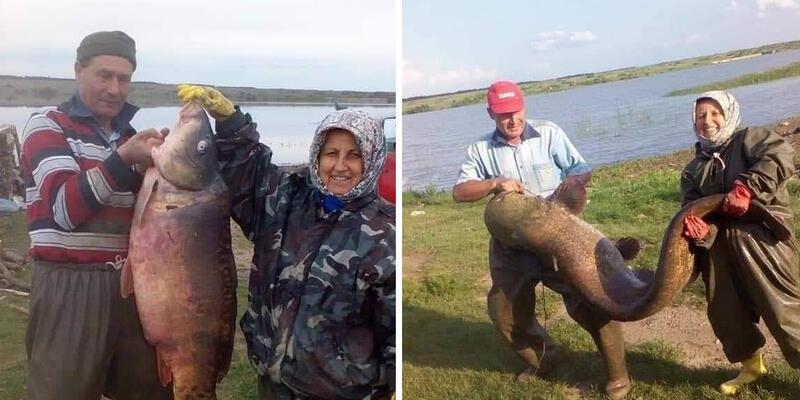Hobi olarak başladılar, dev balıklar yakalıyorlar