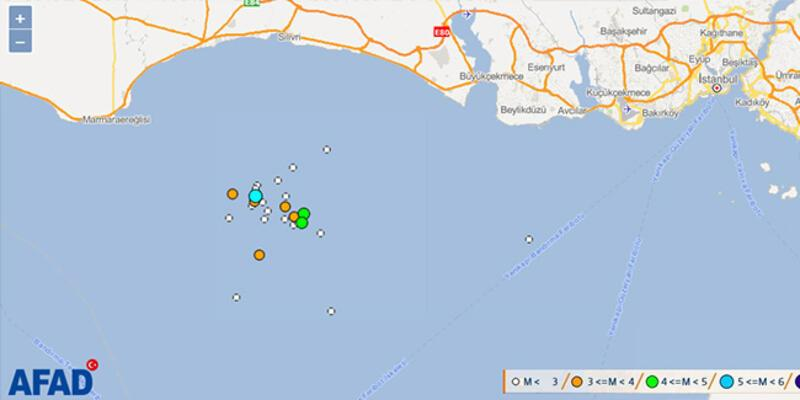 İstanbul açıklarında deprem hareketliliği... Marmara Denizi beşik gibi sallanıyor