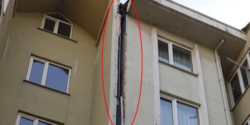 5.8'lik İstanbul depremi yaptı! Esenyurt'ta bir binada çatlaklar oluştu