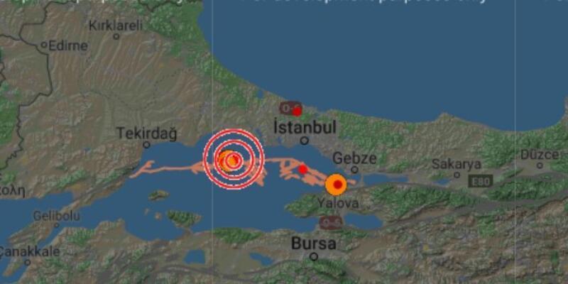 Son dakika... Marmara'da deprem oldu