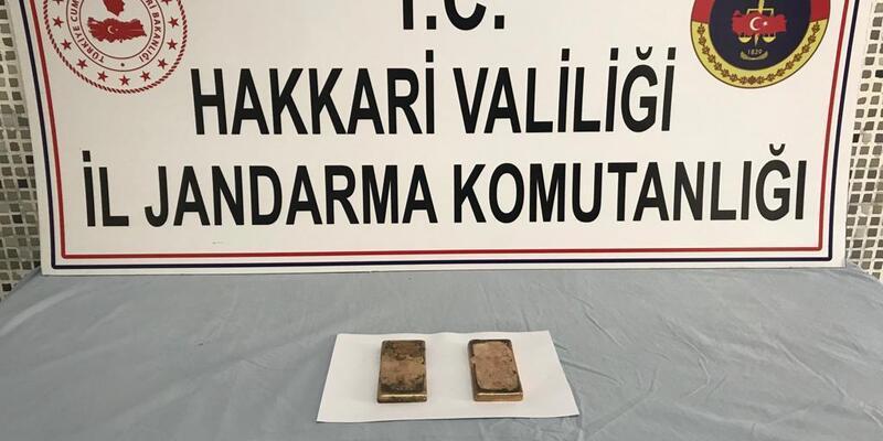2 kilo 484 gram kaçak külçe altın ele geçirildi