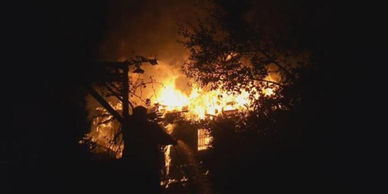 Yayla evinde çıkan yangın panik yarattı