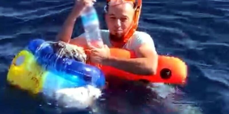 Plastik deniz simidiyle umuda yolculuk