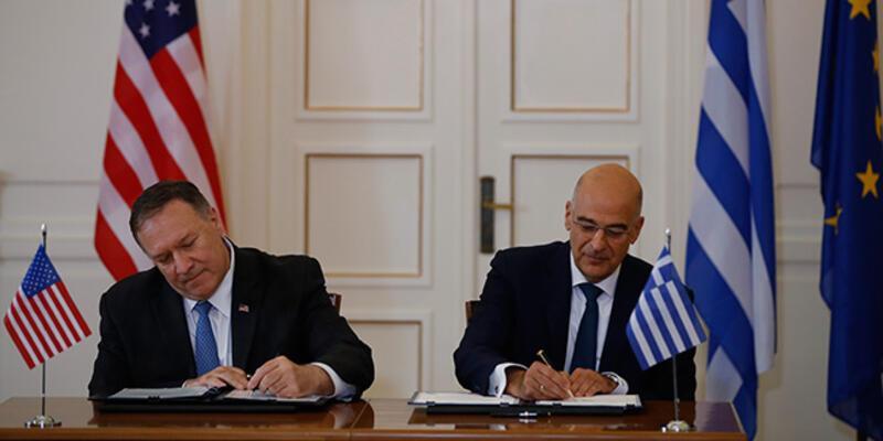 Yunanistan ve ABD imzaları attı! Pompeo'ya Türkiye sorusu...