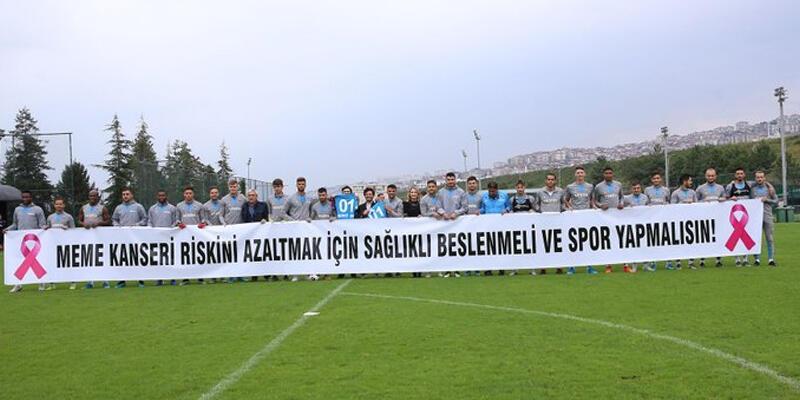 """Trabzonspor'dan """"meme kanserinde farkındalık"""" mesajı"""