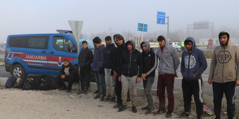 Edirne'de 11 düzensiz göçmen yakalandı