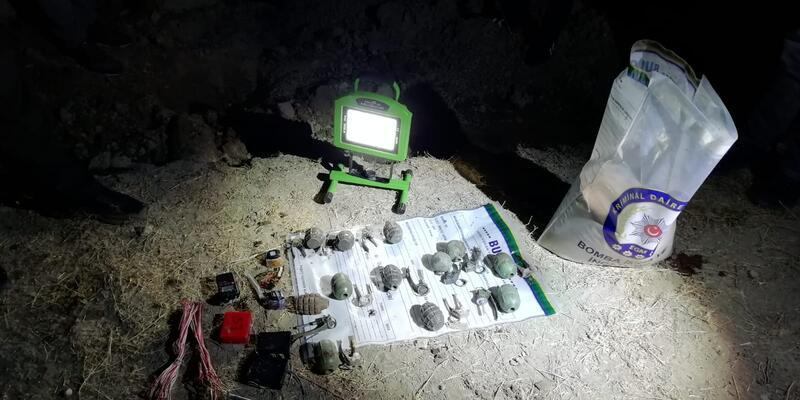 Toprağa gömülü 13 kilo TNT patlayıcı bulundu