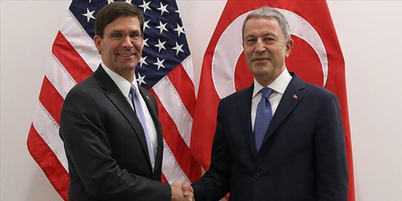 Son dakika: Milli Savunma Bakanı Akar, ABD'li mevkidaşı Esper ile görüştü