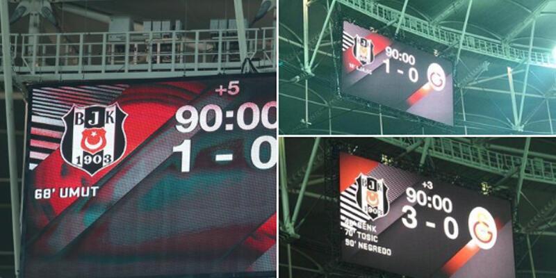 Beşiktaş'tan Galatasaray'a gönderme