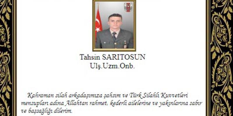 'Barış Pınarı Harekatı'nda yaralanan uzman onbaşı şehit oldu