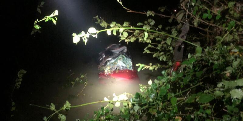 Samsun'da nehre düşen otomobilin sürücüsü öldü