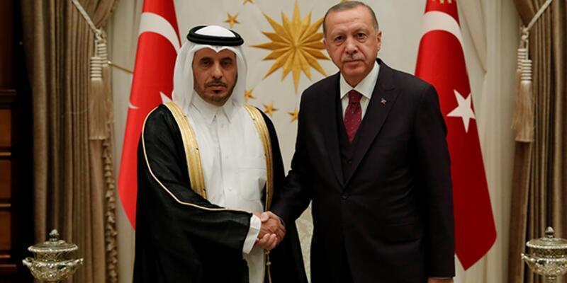 Cumhurbaşkanı Erdoğan, Katar Başbakanı'nı kabul etti