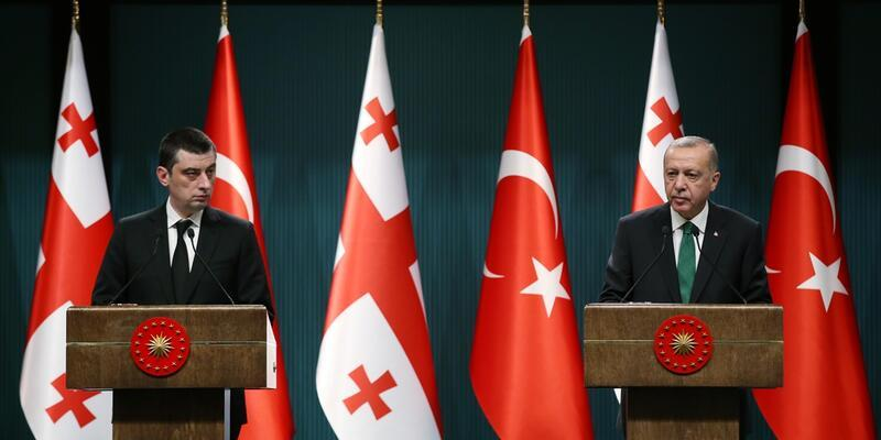 Cumhurbaşkanı Erdoğan ve Gakharia'dan önemli açıklamalar