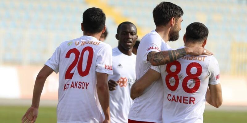 Sivasspor deplasmanda 6 gol attı