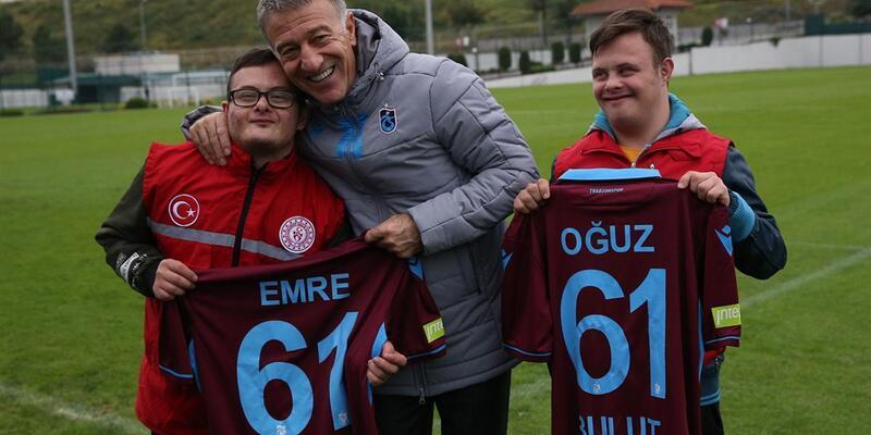 Trabzonspor'a down sendromlu sporculardan ziyaret