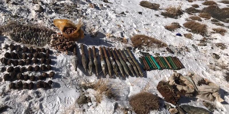Başkale'de PKK mühimmatları ele geçirildi