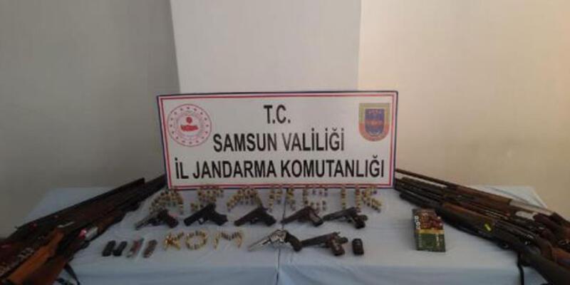 Samsun'da silah kaçakçılığı operasyonu: 6 gözaltı