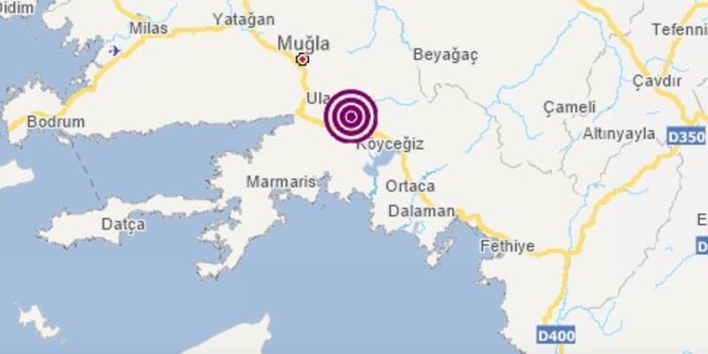Son dakika! Muğla Köyceğiz'de korkutan depremler