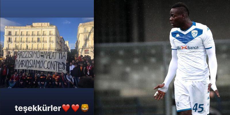 Balotelli'den Galatasaray taraftarına teşekkür