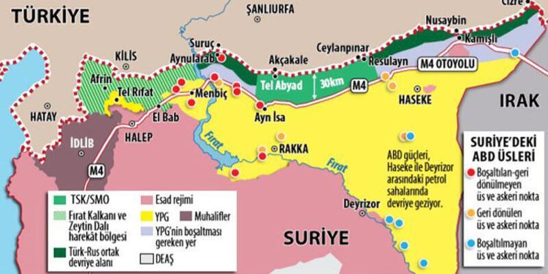 İşte Suriye'de ABD'nin son hali