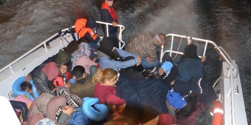 Kuşadası açıklarında 68 kaçak göçmen yakalandı