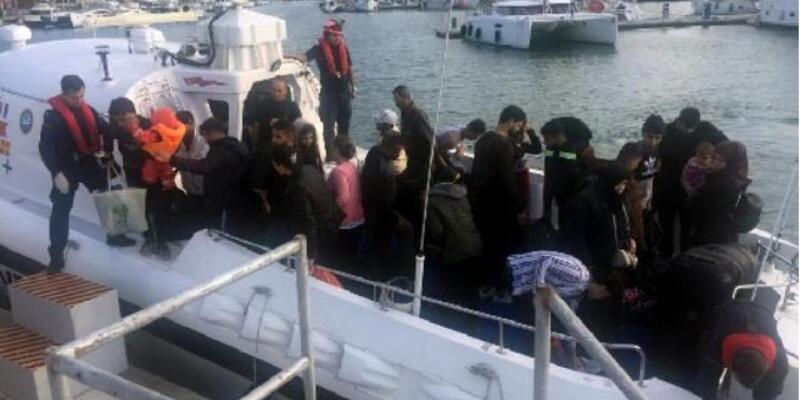 Çeşme'de 123 kaçak göçmen yakalandı