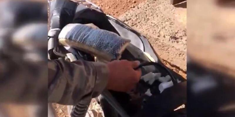 YPG/PKK'lıların EYP ile tuzakladığı motosiklet etkisiz hale getirildi