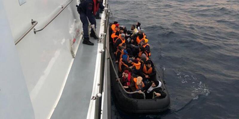 Enez açıklarında 65 kaçak göçmen yakalandı