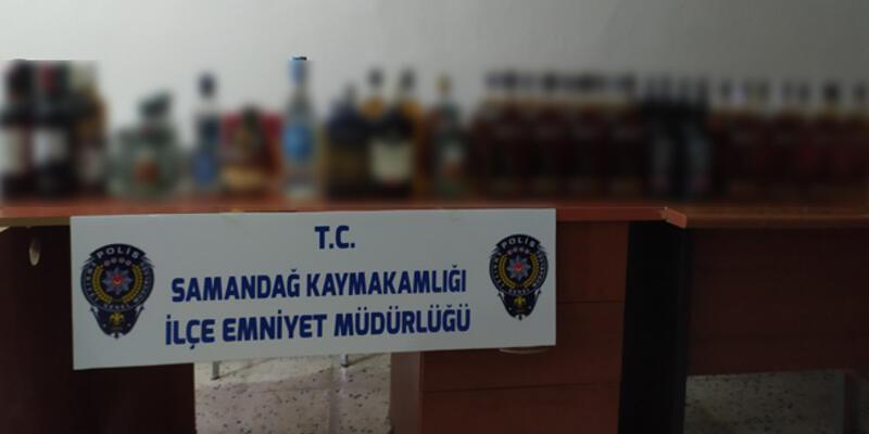 Hatay'da 70 şişe sahte içki ele geçirildi