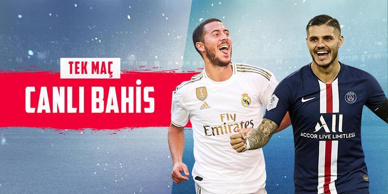 Real Madrid-PSG CANLI BAHİS seçenekleriyle Misli.com'da